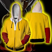 One Punch Man anime 3D printing hoodie sweater cloth