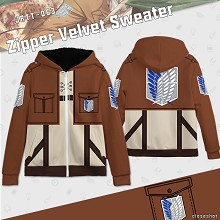 Attack on Titan anime thick hoodies cloth
