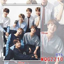 BTS star wall scroll