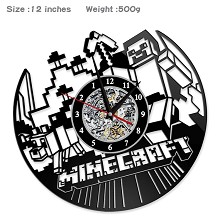 Minecraft game wall clock