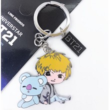 BTS BT21 star key chain