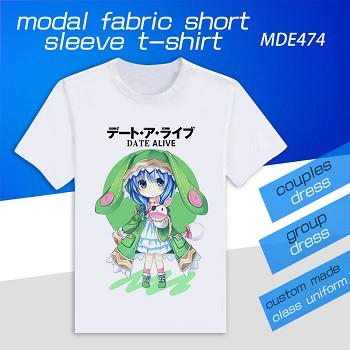 Date A Live anime model short sleeve t-shirt
