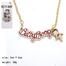 Betty Boop anime necklace