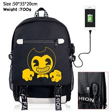 Bendy and the Ink Machine USB charging laptop backpack school bag