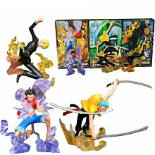 One Piece Luffy Zoro Sanji figures set(3pcs a set)