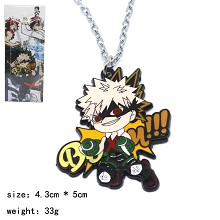 My Hero Academia Bakugou Katsuki anime necklace
