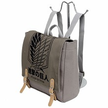 Attack on Titan anime canvas backpack bag