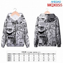 AHEGAO anime long sleeve hoodie sweater cloth