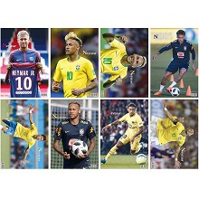 Neymar star posters(8pcs a set)