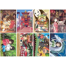 Spirited Away anime posters(8pcs a set)
