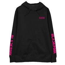 Black pink star cotton thick hoodie sweater cloth