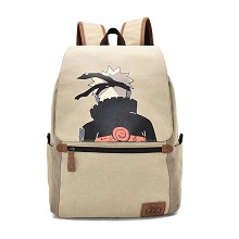 Naruto anime canvas backpack bag