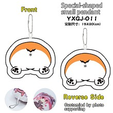 Corgi shape anime plush doll key chain
