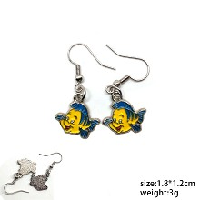 The fish anime earrings a pair
