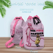 Pink Panther anime drawstring backpack bag