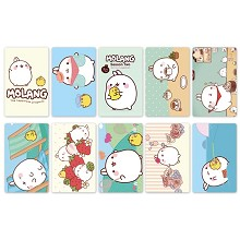 Molang anime stickers set(5set)