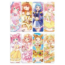 Aikatsu Friends anime pvc bookmarks set(5set)