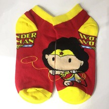 Wonder Woman short cotton socks a pair