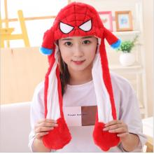 Spider Man Plush Hat Ear Shape Can Move Cap Plush ...