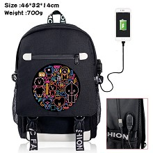 BTS star USB charging laptop backpack school bag
