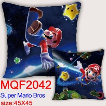 Super Mario anime two-sided pillow