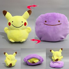 8inches Pokemon anime two-sided plush pillow