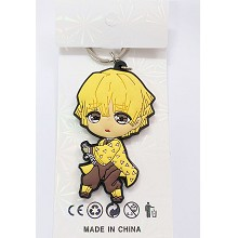 Demon Slayer Agatsuma Zenitsu anime key chain