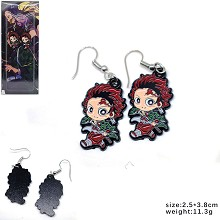 Demon Slayer Kamado Tanjirou anime earrings a pair
