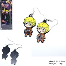 Demon Slayer Agatsuma Zenitsu anime earrings a pai...