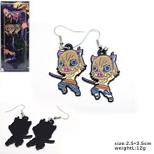 Demon Slayer Hashibira Inosuke anime earrings a pa...