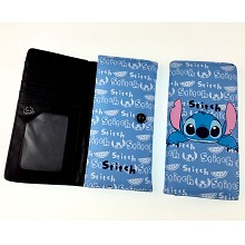 Stitch anime long wallet