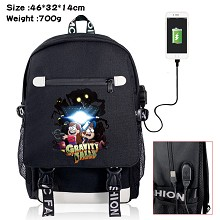 Gravity Falls anime USB charging laptop backpack s...