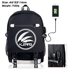Arknights anime USB charging laptop backpack schoo...