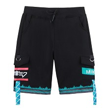 Hatsune Miku anime shorts middle pants