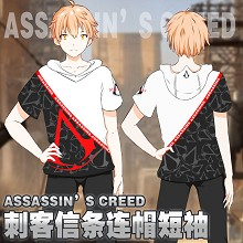 Assassin's Creed game cotton short sleeve hoodie t...