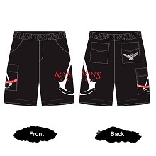 Assassin's Creed game shorts middle pants