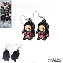 Demon Slayer Kamado Nezuko anime earrings a pair