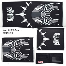 Black Panther silicone wallet