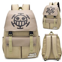 One Piece Law anime canvas backpack bag