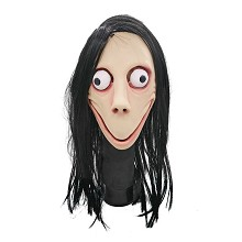 Funny Scary Momo cosplay latex mask