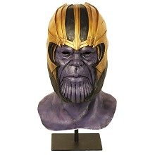 Thanos cosplay latex mask