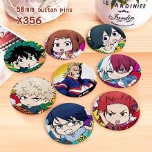 My Hero Academia anime brooches pins set(8pcs a se...