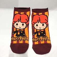 Harry Potter Ron Weasley short cotton socks a pair
