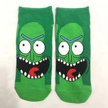 Rick and Morty anime short cotton socks a pair