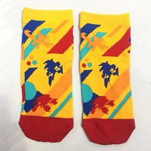Sonic The Hedgehog short cotton socks a pair
