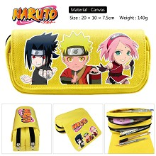 Naruto anime canvas pen bag pencil bag