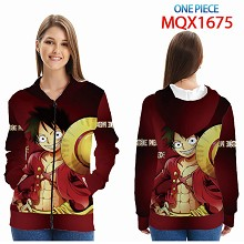 One Piece anime long sleeve hoodie cloth