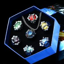 Reborn anime rings+necklace(7pcs a set)