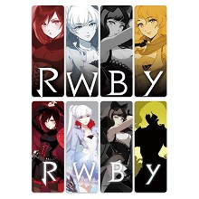 RWBY anime pvc bookmarks set(5set)