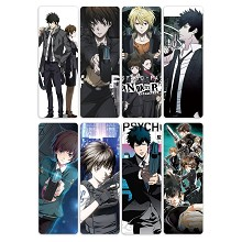 Psycho Pass anime pvc bookmarks set(5set)